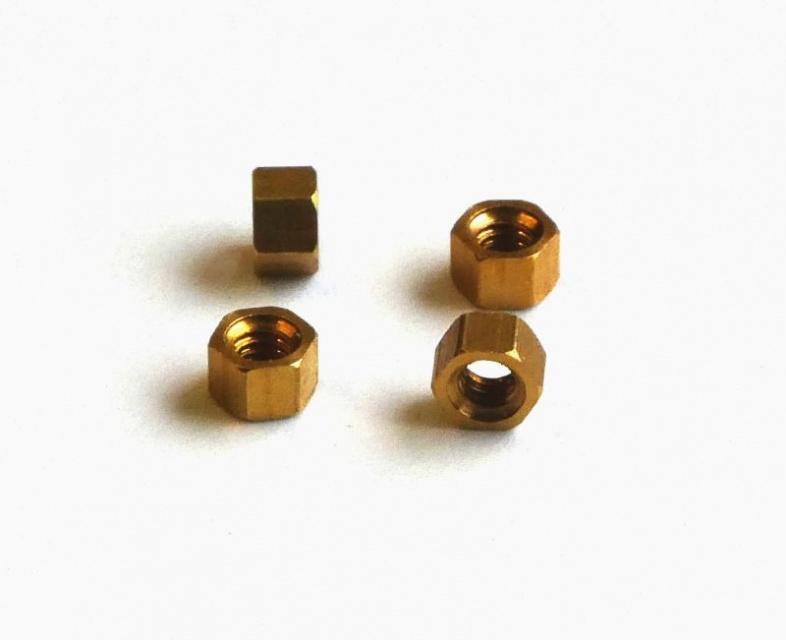 Sechskantmuttern DIN 934 Messing M 3,5 Ms Inhalt 100 Stück