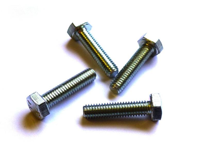 10x DIN 933 Sechskantschraube mit Gewinde bis Kopf M 4 x 8 A2 blank