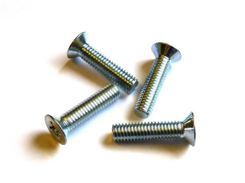 M 10 Senkschrauben mit PH DIN 965 4.8 Stahl galv verz M 8