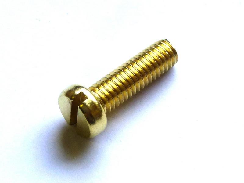 25 Zylinderschrauben Messing  M 2.0