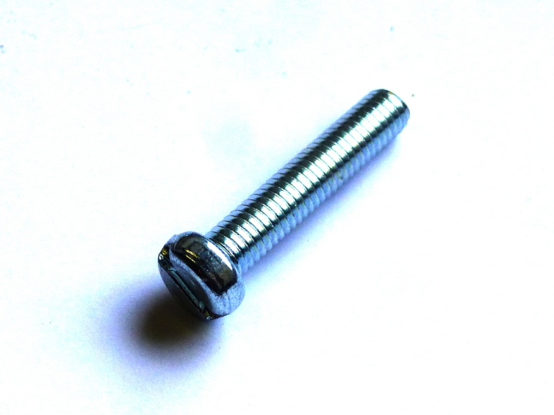 M 6x10 DIN 84 Stahl verzinkt Zylinderkopf 10 Zylinderschrauben mit Schlitz